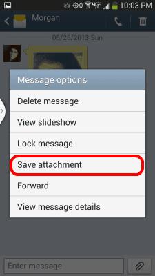 S4 Save attachment option
