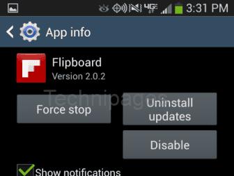 S4 app disable option
