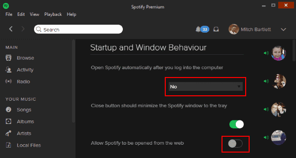 Spotify: Disable Automatic Startup