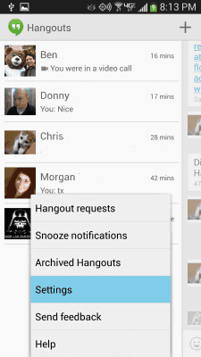 Google Hangouts For Android: How to Set Notification Sound