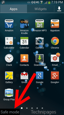 S4 in Safe Mode