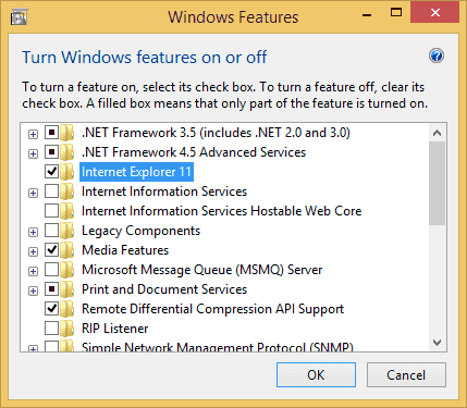 disable internet explorer windows 10