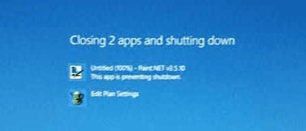 Windows Closing Apps and Shutting Down