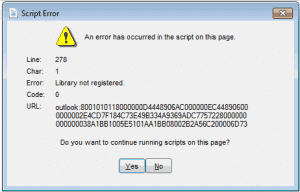 """Outlook 2013: """"Library Not Registered"""" Error"""