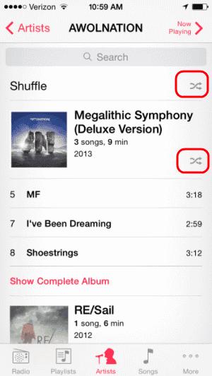 iPhone Shuffle Album