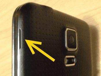 S5 back cover notch