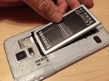 S5 battery insert