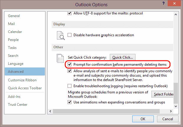 get rid of email popup in outlook