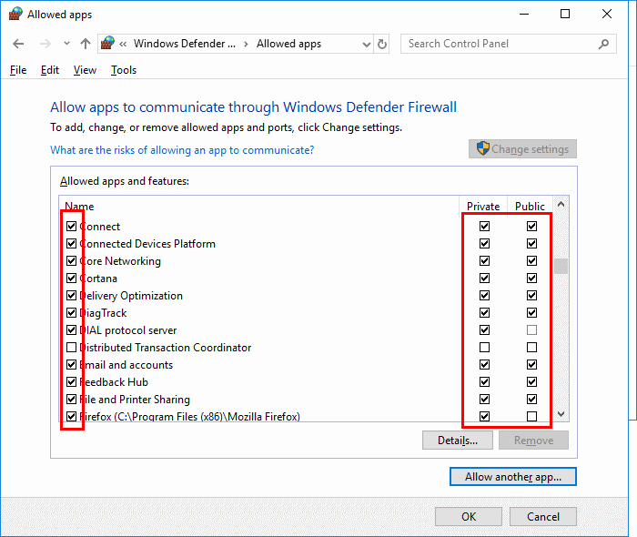 Windows 10: Allow/Block Apps in Firewall