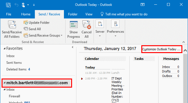 Outlook 2019/365: Enable or Disable
