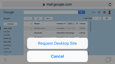 iOS9 Gmail Desktop Site