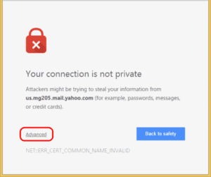 "Google Chrome: Bypass ""Your connection is not private"" Message"