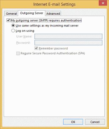 Outlook Yahoo IMAP Outgoing Server Settings