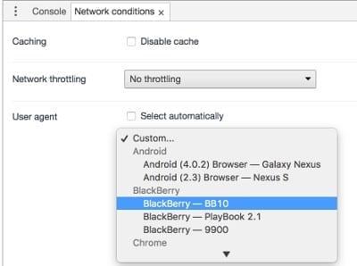 Google Chrome: Change the User Agent String