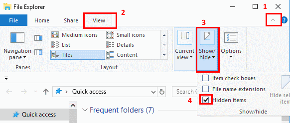 Brilliant How To Show Hidden Files In Windows 10 Technipages Home Interior And Landscaping Eliaenasavecom