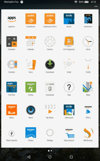 Kindle Fire with Apex Launcher