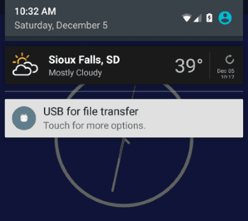 5X USB for File Transfer option