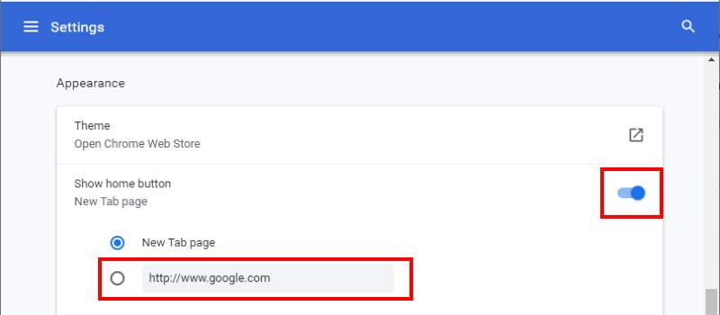 Chrome Desktop Set Homepage