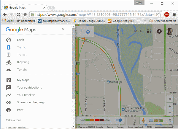 Google Traffic Option