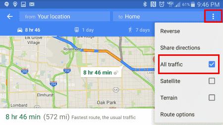 Navigate All Traffic option