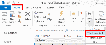 Outlook Address Book