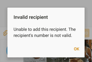 "Android: Fix ""Invalid Recipient"" Message"