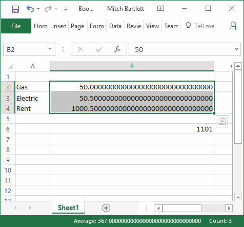 Excel Calculations Are Not Accurate