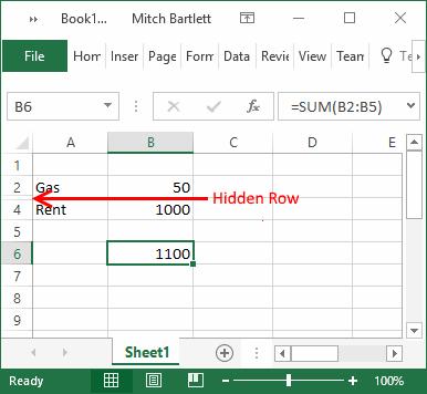 excel-hidden-row