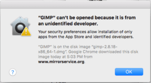 "MacOS: Disable ""{appname} can't be opened because it is from an unidentified developer"""