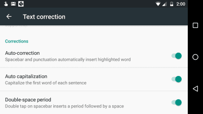 Android 8: Disable Auto-Correct