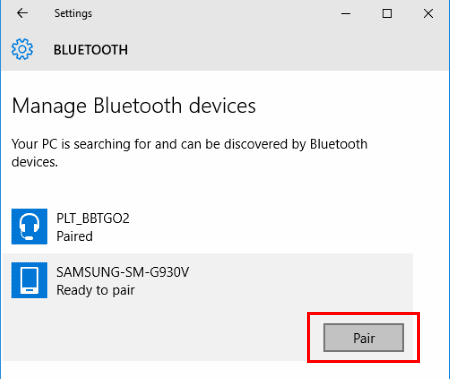 Transfer Files Between Android & Windows 10 Via Bluetooth