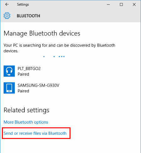how to send pictures via bluetooth from android to windows