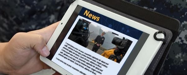 News App on Tablet