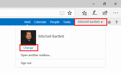 outlook how to change corporate picture