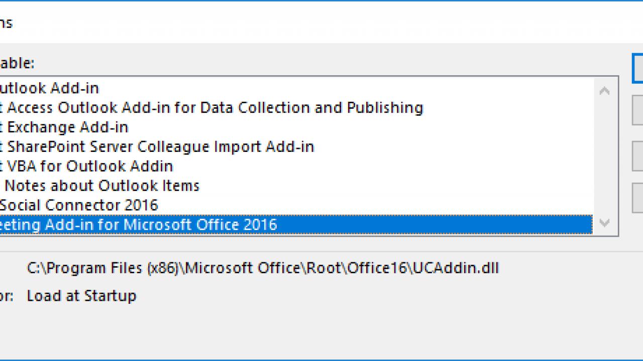 Outlook: Enable/Disable Add-ins - Technipages