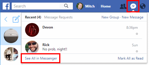 how to delete all archived messages on messenger