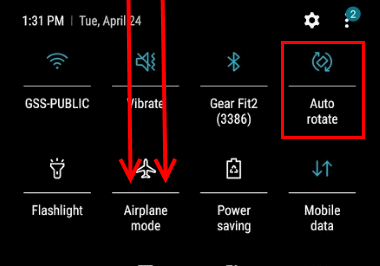 Galaxy S9: Enable/Disable Screen Rotation