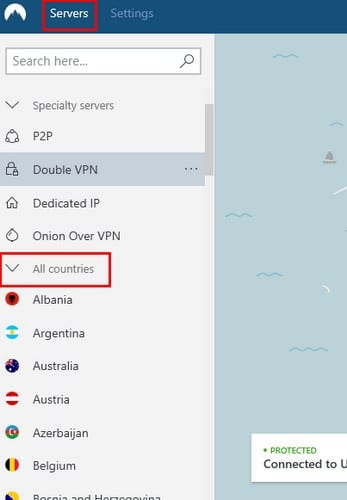 Nordvpn free server