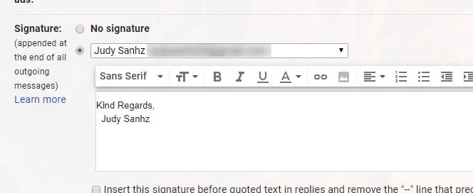 Gmail: Add Signature with Image