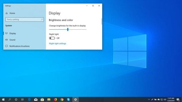 Change Screen Brightness In Windows 10