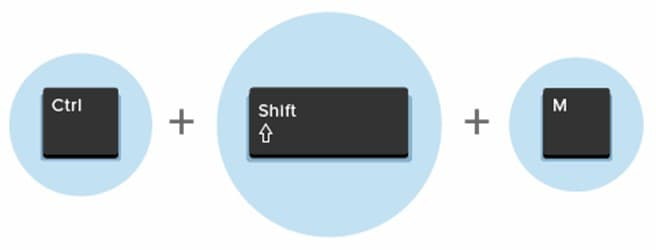 Ctrl + Shift + M
