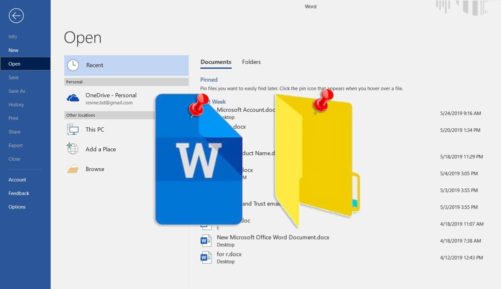 How to Pin a File or Folder to the Open List in Microsoft Office to Save Time