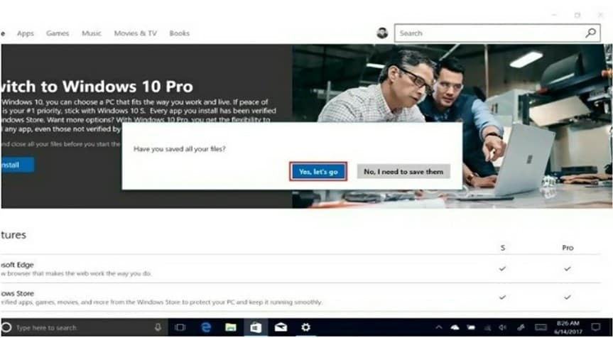 Switch to Windows 10 Pro