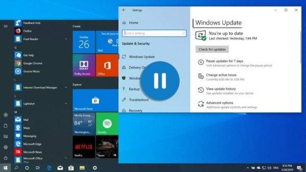 How to Pause Updates in Microsoft Windows 10
