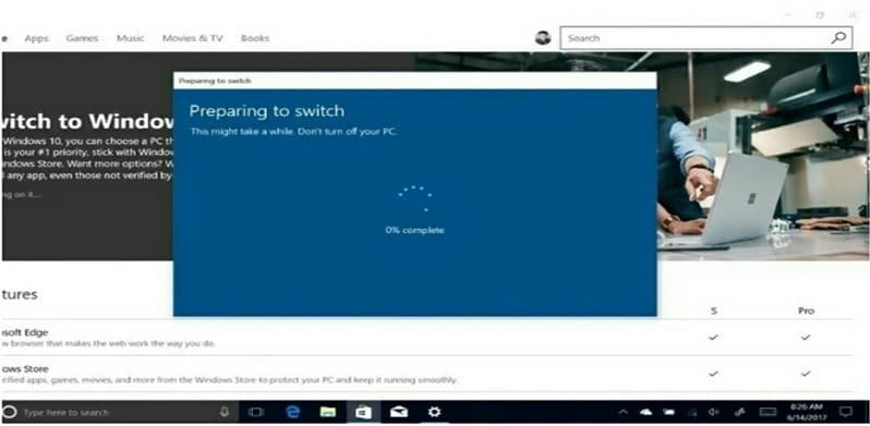 choose the Install Windows 10 Pro
