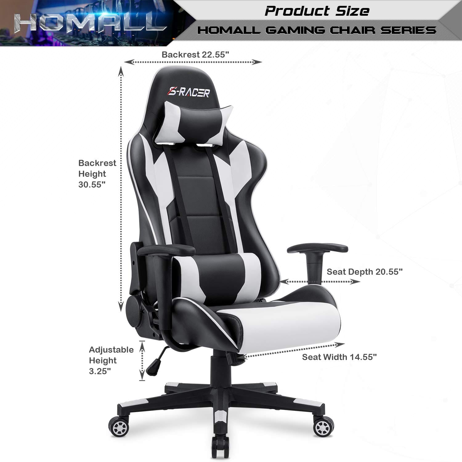 Picture of: Homall Gaming Chair Assembly Instructions