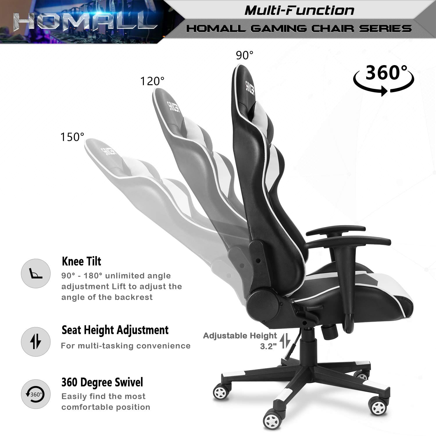 Homall Gaming Chair Racing Style