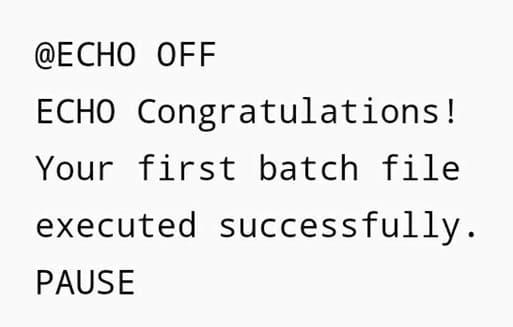 Windows 10: Create and Run Batch File