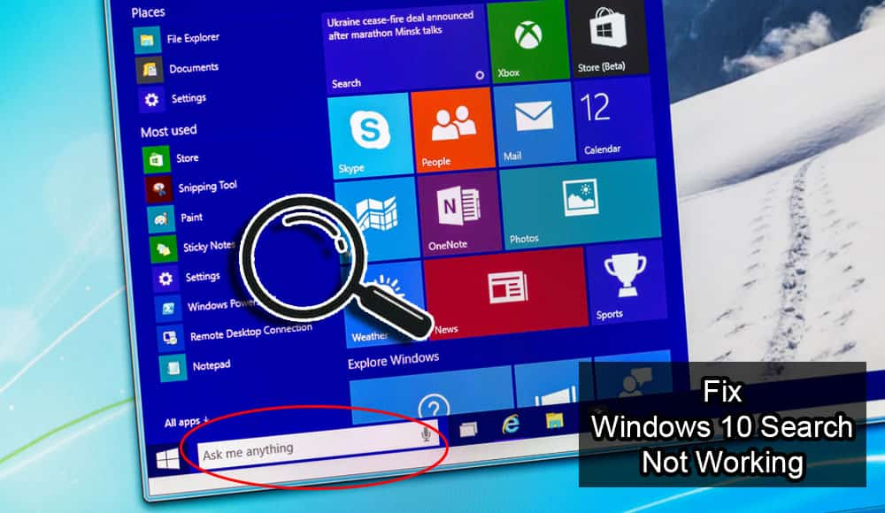 C:\Users\Md. Rashedul Kabir\Desktop\technipages.com\Fix Windows 10 Search Not Working