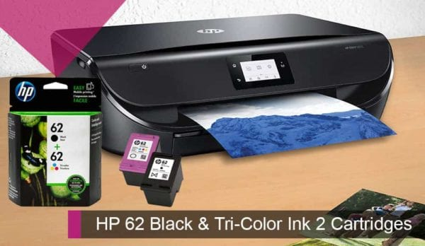 HP 62 Black & Tri-Color Ink 2 Cartridges